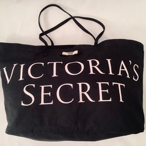 Victoria's Secret Weekender Tote Bag Black & Large